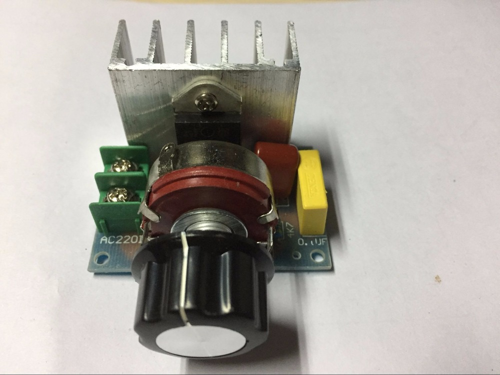 AC 220V 3800W SCR Voltage Regulator Dimming Dimmers Speed Controller Thermostat #S018Y# High Quality(China)