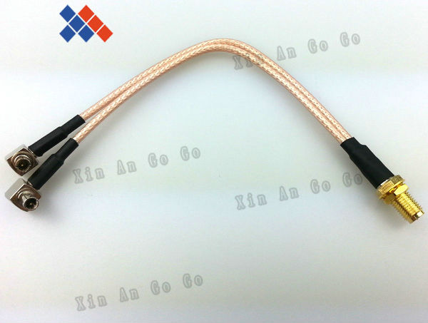RF RP-SMA female to Y type 2X TS9 male Splitter Combiner cable pigtail RG316 One SMA point 2 TS9/S197 connector free shipping rp sma female to y type 2x ip 9 ms156 male splitter combiner cable pigtail rg316 one sma point 2 ms156 connector for lte yota
