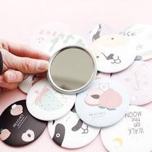 1 шт. модное милое маленькое круглое зеркало с мультипликационным рисунком, портативное зеркало для макияжа, креативное круглое портативное зеркало для макияжа принцессы