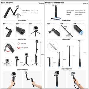 Image 3 - Vamson pour Gopro 7 kit daccessoires pour xiaom yi 4k pour gopro hero 7 6 5 4 3 kit de montage pour SJCAM SJ4000/eken h9 trépied VS56