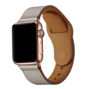 Image 4 - Ivory White Genuine Leather Watch Band Strap For Iwatch 38mm 44mm , VIOTOO Black Color Leather Watch Band Strap For Apple Watch