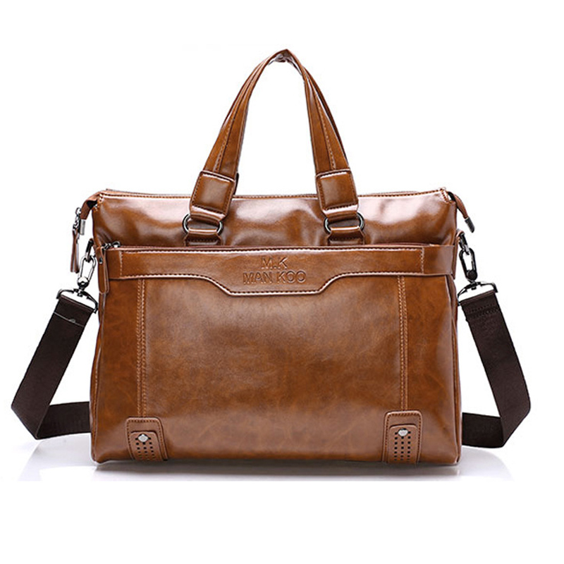 ФОТО Fashion Business Briefcase Real Cowskin Men Messenger Bags Vintage shoulder cross-body bags genuine leather men bags