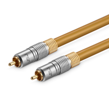 WinAqum Professional 75Ohm RCA Digital Coaxial Audio Cable RCA M/M Male to Male Gold Plated Plug Coax Adapter Video WT-08