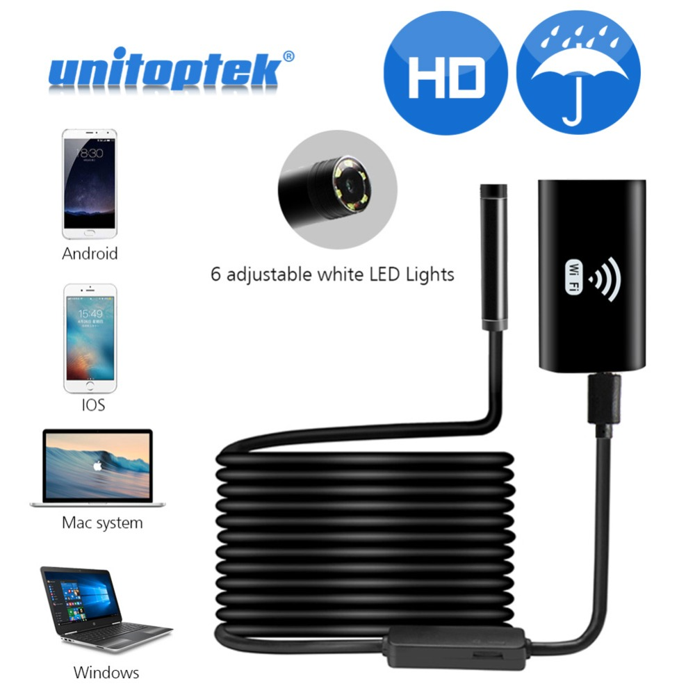 1M 2M 5M Wifi Endoscope Camera Android 720P iPhone Borescope Camera Endoscopio Semi Rigid Hard Tube And Soft Wire iOS Endoscope