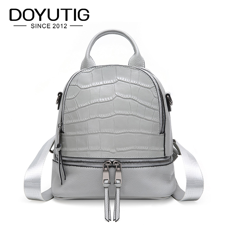 DOYUTIG Brand New Design 2019 Womens Genuine Leather Casual Backpack Large Capacity Luxury Real Leather School Backpack E173DOYUTIG Brand New Design 2019 Womens Genuine Leather Casual Backpack Large Capacity Luxury Real Leather School Backpack E173