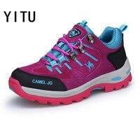 YITU Women Mountain Hiking Shoes Autumn Winter Outventure Tactical Shoes Comfortable Camel Sneakers For Women Trekking