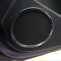 High Qulity Door Speaker Decoration Circle Cover Trim Ring Stickers Case For KIA K2 Rio