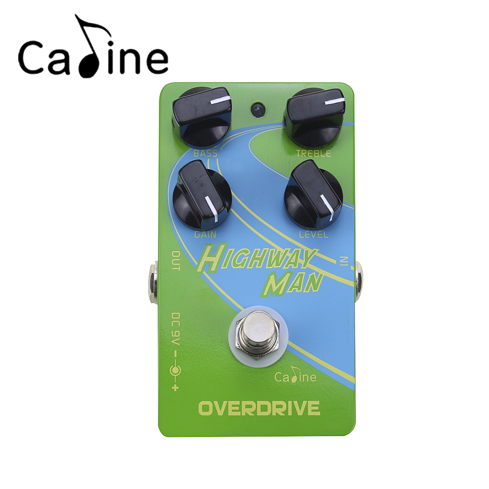 Caline CP-25 Electric Guitar Overdrive Effect Pedal Green True Bypass Design Guitar Accessories aroma adr 3 dumbler amp simulator guitar effect pedal mini single pedals with true bypass aluminium alloy guitar accessories