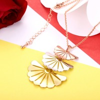 Factory Price High Quality Jewelry European And American Fashion 925 Silver Fan Shaped Pendant Classic Wind