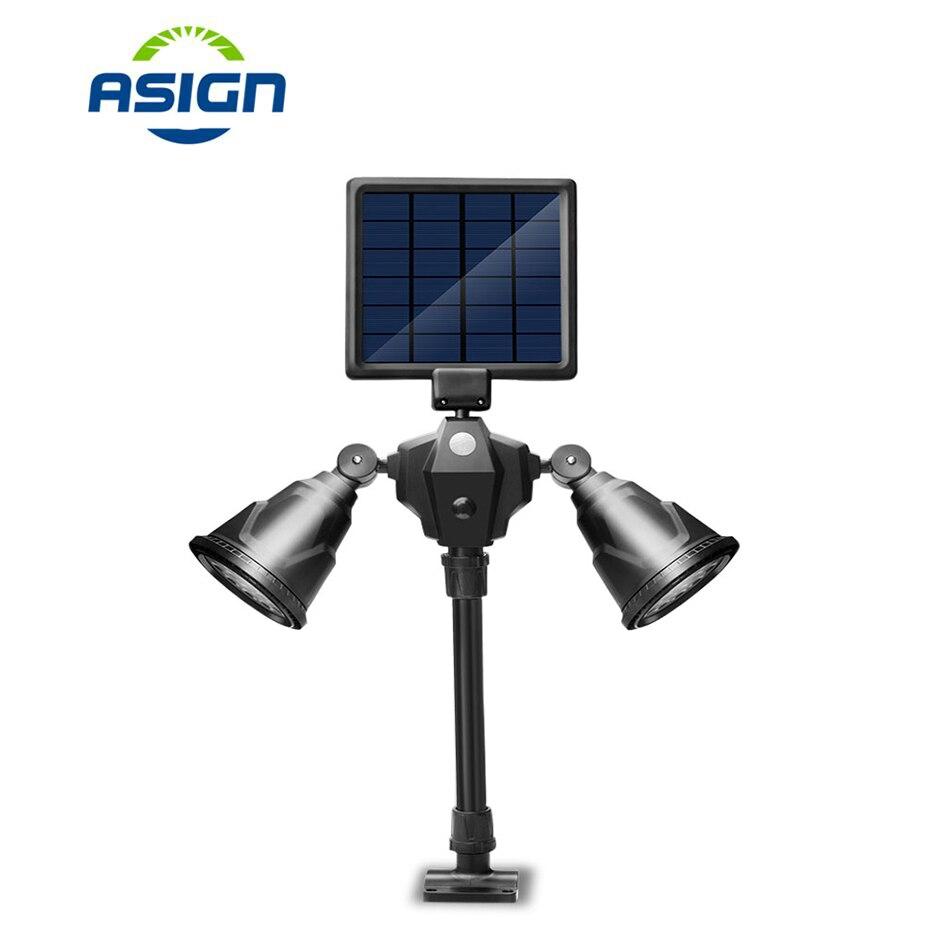 Les lampes solaires menées de pelouse ont mené la lumière imperméable de tache IP65 7.2 W le chemin solaire portatif de décoration de lampe d'énergie solaire a mené l'éclairage solaire de jardin