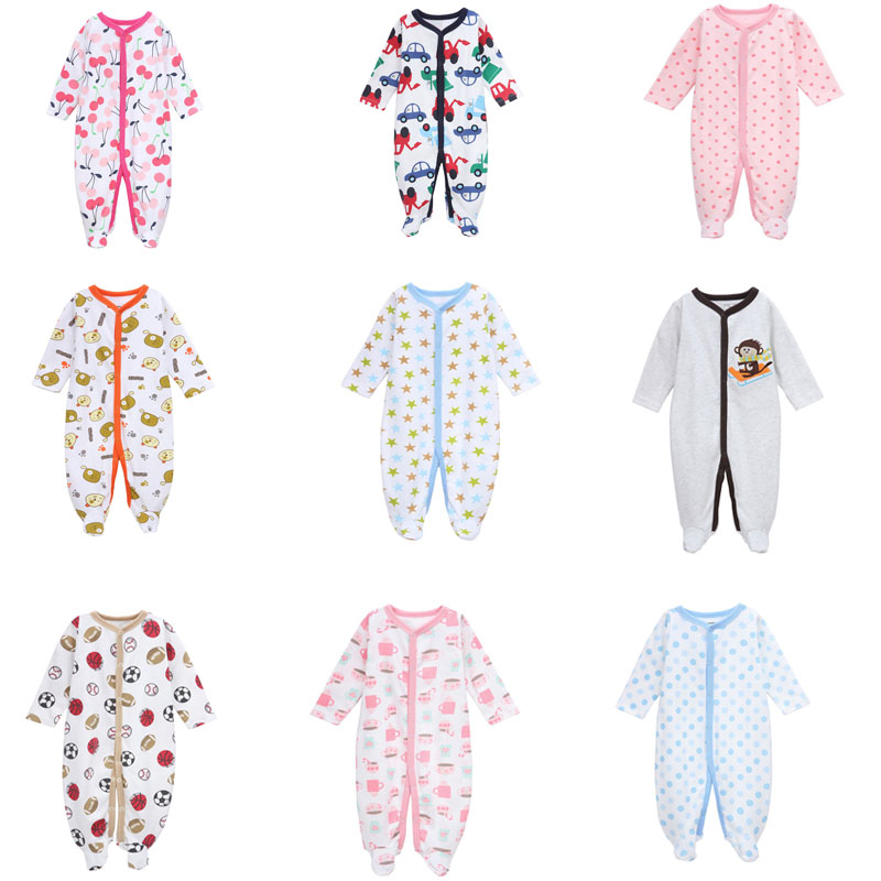 Baby Long Sleeve Rompers 100%Cotton Cute Baby Boys Girls Clothes Newborn roupas de bebe Baby Infant Summer Baby Boys Jumpsuits sr118 baby rompers 2016 spring newborn cotton pajamas clothes bebe long sleeve hooded romper infant overall boys girls jumpsuit