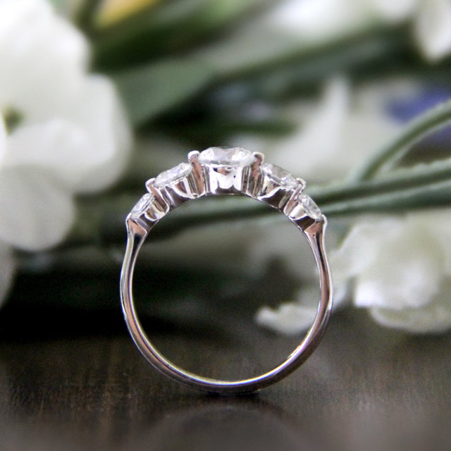 1.16CTW Princess Cut Simulated Diamond 925 Sterling Silver with Gold Wedding Engagement Ring