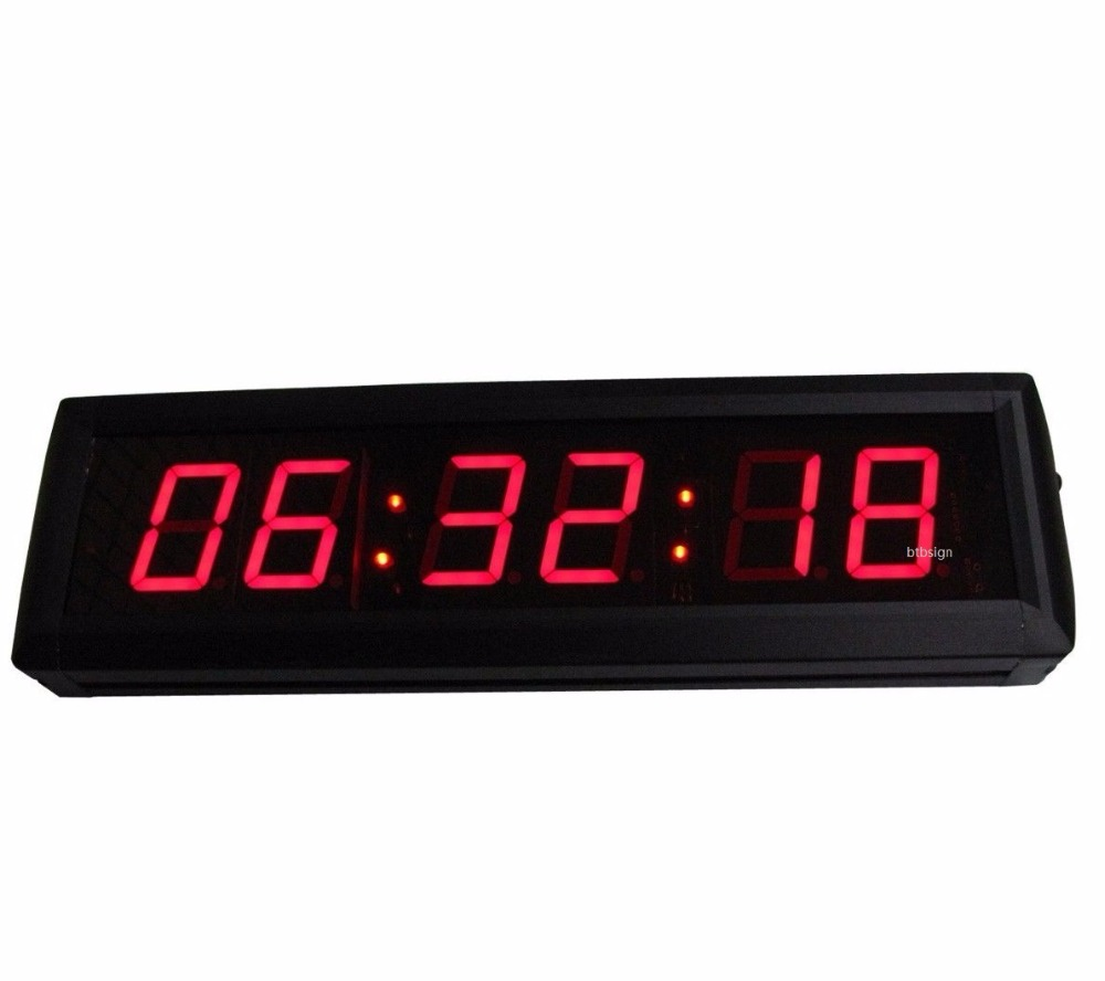 Aliexpress buy 18 red large wall clock school contest aliexpress buy 18 red large wall clock school contest countdown clock in hours minutes seconds with remote from reliable clock button suppliers on amipublicfo Gallery