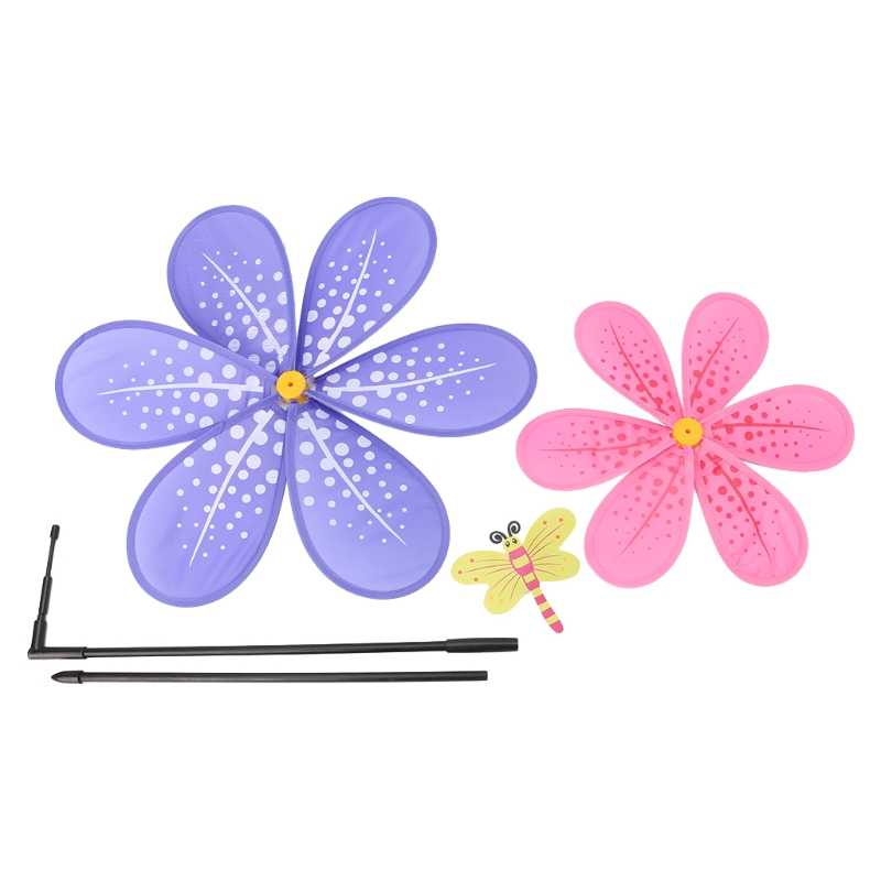 Двухслойный цветочный ветряная мельница красочный ветряной Спиннер дворовый садовый декор Детская игрушка 'lrz