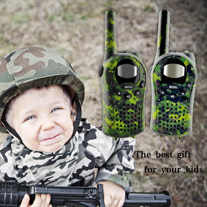 Image 5 - 2 adet/takım çocuklar Walkie talkie Mini iki yönlü telsiz interkom yeşil Camo 22 kanal 446MHZ FRS oyuncaklar interkom çocuk