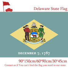 Free shipping 60*90cm 90*150cm Delaware State Flag 30*45cm Car Flag 3x5FT Hanging Flags Activity the delaware state constitution