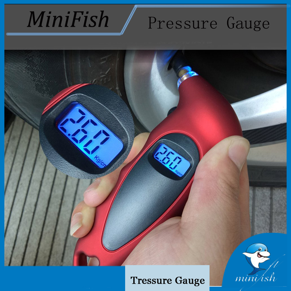 2018 Digital Tire Pressure Gauge Meter LCD Backlight Display Manometer Barometers Tester For Car Truck Motorcycle Bike