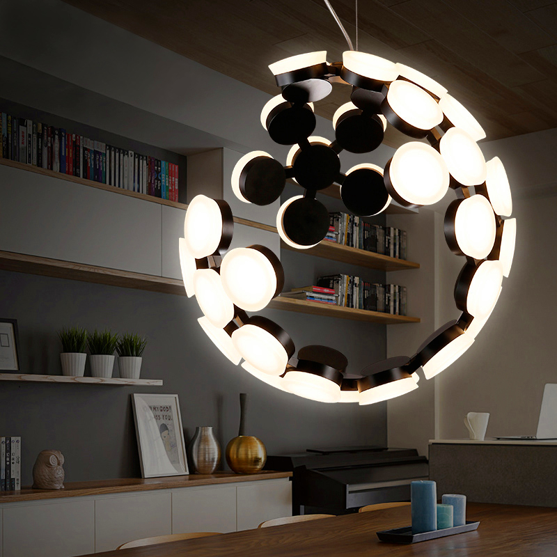 Postmodern LED Pendant bedroom Chandeliers acrylic lamps Chandelier Lightings luminaire suspendu lights
