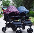 Twin baby strollers detachable double multiple children can sit flat folding carts