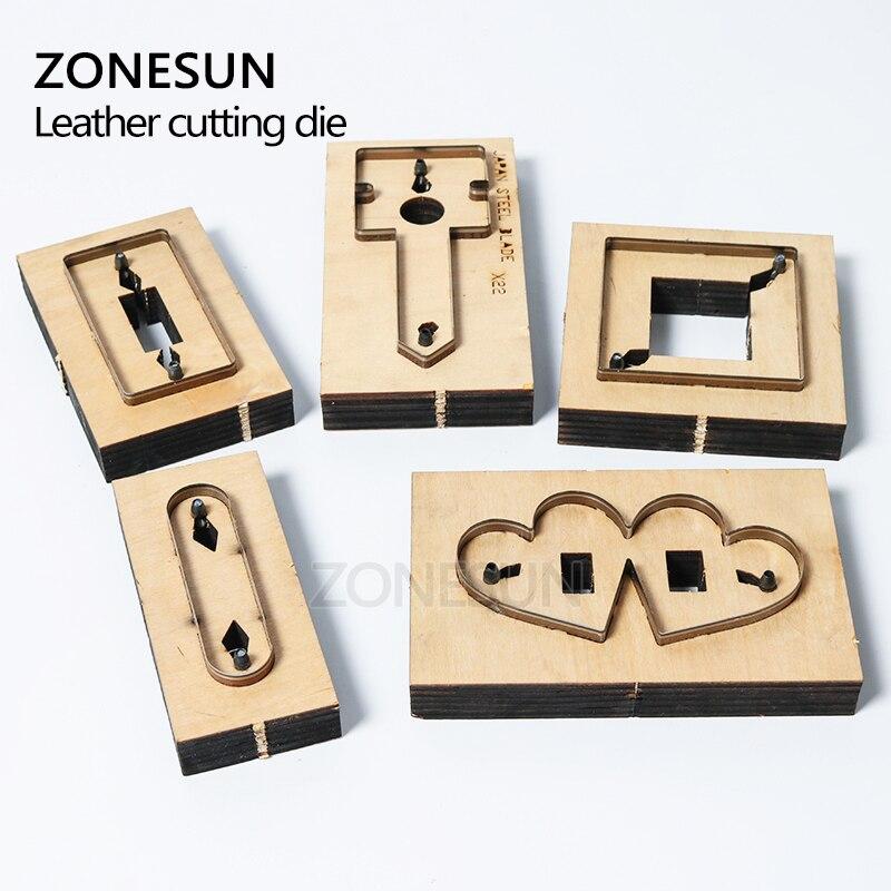 ZONESUN bricolage écouteur cordon gardien en cuir cordon organisateur porte-écouteurs découpe pour Machine de découpe artisanat Cutter - 4