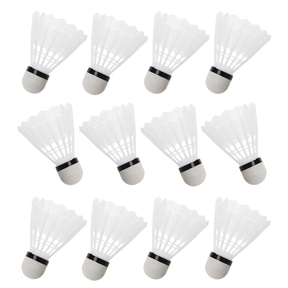 3Pcs Badminton White Plastic Shuttlecocks Indoor Outdoor Gym Sports Accessories