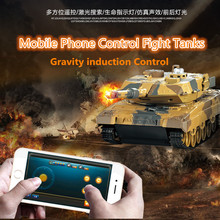 Kids gift new HuanQi H500 1/36 RC Battle Tank With Smart Phone Bluetooth Controlled Gravity Sensing Commander Series Rc Toy