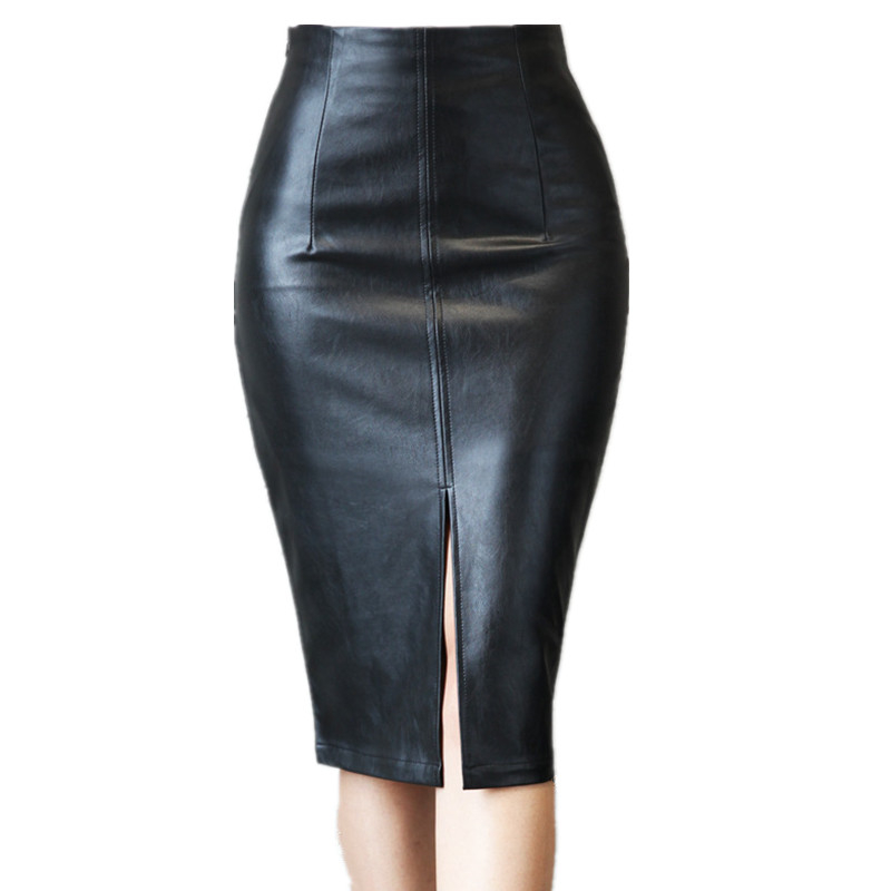Online Get Cheap Knee Length Leather Skirt -Aliexpress.com ...