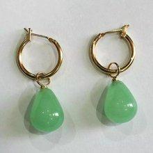 brinco wedding brincos moda pendientes earring Agate Jade Earrings 925 Silver natural agate jade earrings