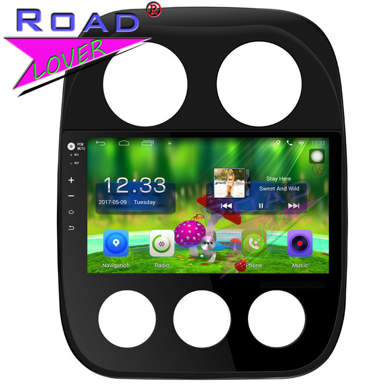 """TOPNAVI Android 6.0 2G+32GB Quad Core 10.1"""" Car Media Center Radio For Jeep Compass Stereo GPS Navigation Player Automagnitol"""