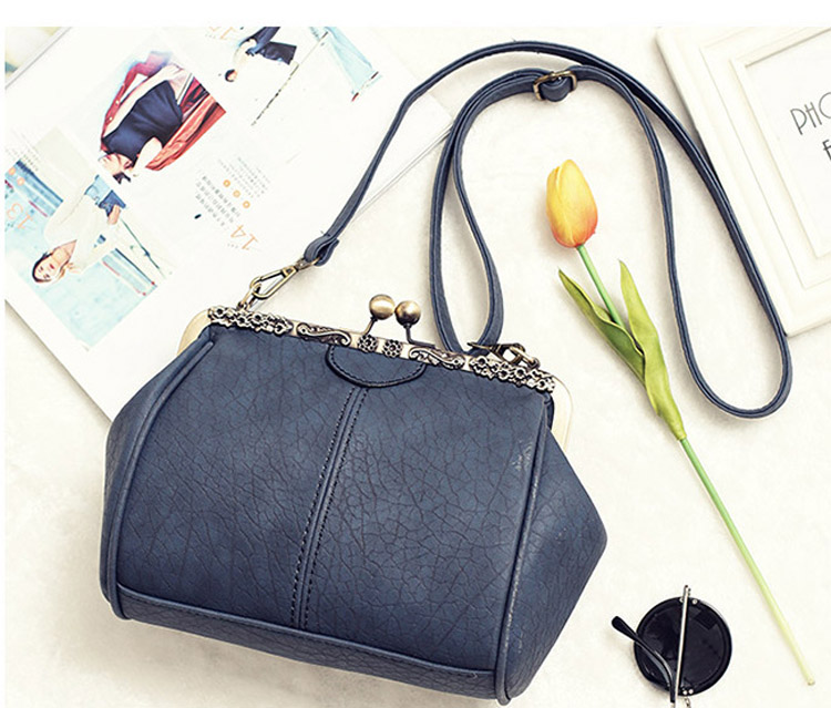 Vintage Handbags Kiss Lock Cross Body Purses Shoulder Messenger Tote Bags for Women PU Leather (8)