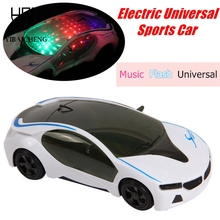 1:24 RC Car Electric Plastic Model Toys 3D Flashing i8 Car Sound Light Universal Emulation Sport Concept Car Toys For Children