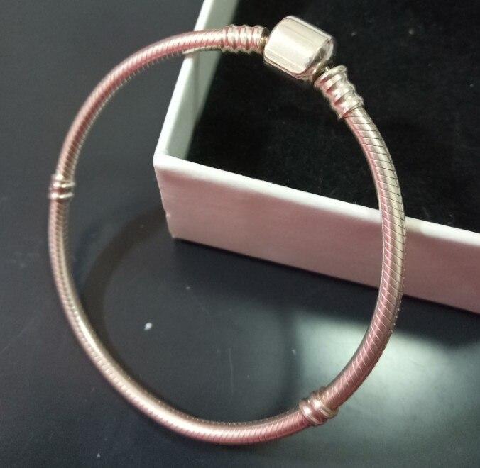Authentique 100% 925 Sterling Argent Serpent Chaîne De Bracelet et Bracelet De Luxe Bijoux pour amie cadeau de bonne qualité