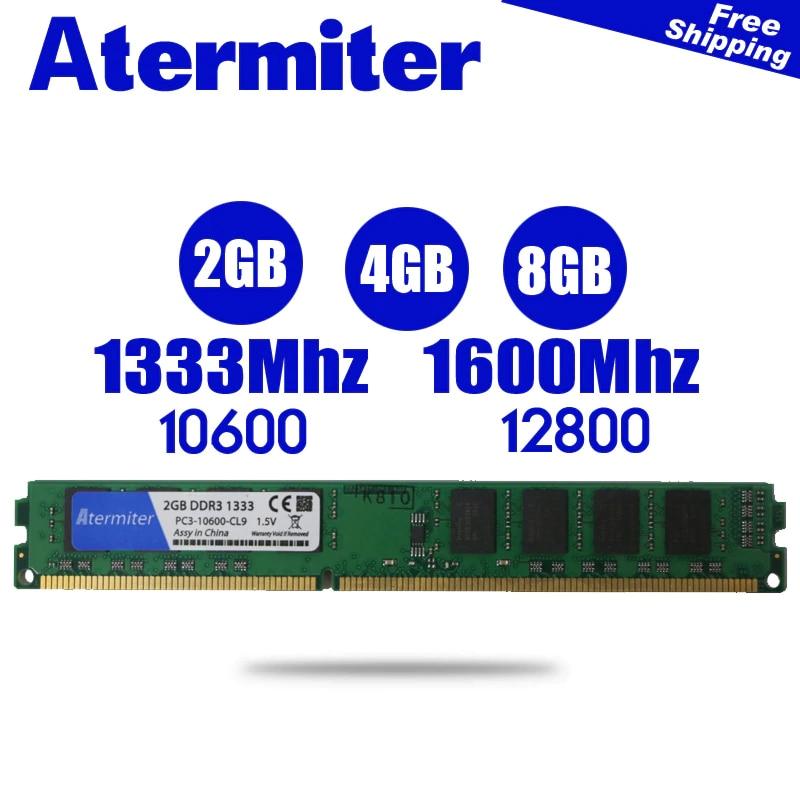 Neue 2 GB 4 GB 8 GB DDR3 PC3-12800 1600 MHz 1333 Mhz 1866 Mhz Desktop PC DIMM Speicher RAM 240 pins Für intel amd kühler 8g 4g 1866