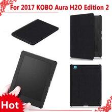 """PU Funda de piel Para 2017 nueva edición 2 eReader Kobo aura H2o 6.8 """"Tablet + free 3 regalos"""