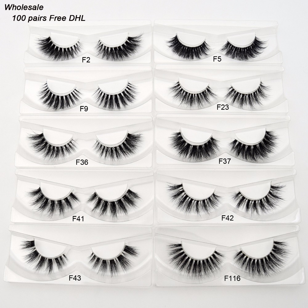 Free DHL 100Pairs Visofree Eyelashes 3D Mink Lashes Invisible Band Mink Eyelashes 17Style Cruelty Free Reusable Lashes Wholesale