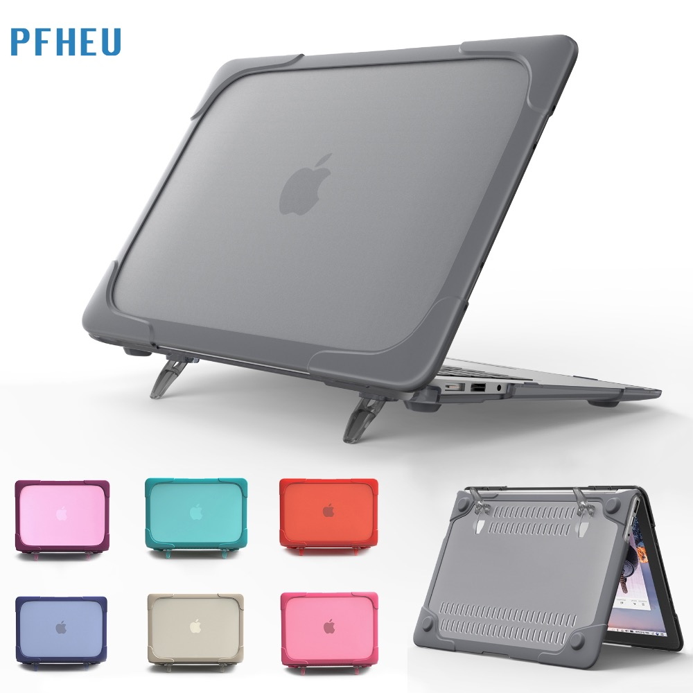 Shockproof Outer Case For Macbook Air 13 11 inch,Retina 13 12 15,New Pro 13 inch Hard Plastic Cover with Foldable Stand shell airline aj r 1 5
