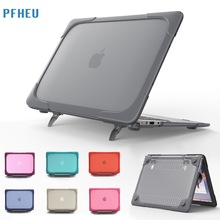Shockproof Outer Case For Macbook Air 13 11 inch,Retina 13 12 15,New Pro 13 inch Hard Plastic Cover with Foldable Stand shell