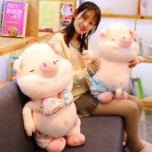 35/65cm Cute Pink Pig Plush Toys For Children Chinese Zodiac Pig Doll Soft Fat Pig Pillow Cushion Kids Girls Birthday Gifts(China)
