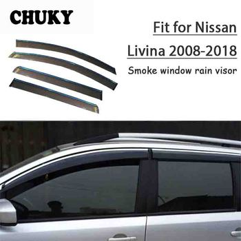 Chuky 4pcs ABS Car Styling Window Visors Awnings Shelters Rain Shield For Nissan Livina L10 L11 2008-2018 Auto Accessories