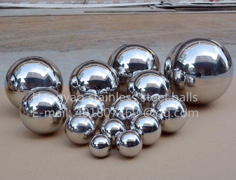 Gümüş Dia 400mm 40cm 201 paslanmayan polad içiboş top sorunsuz - Ev dekoru - Fotoqrafiya 2