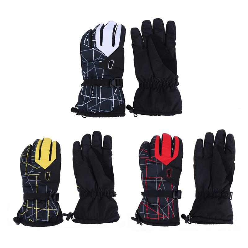 3 Colors 1 pairs Winter Skiing Waterproof Windproof and Breathable Thicken cycling outdoor sports Riding Warm Gloves