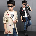 Black Blue Fashion Autumn Spring Kids Jacket Boys Outerwear Coats Active Boy Windbreaker Cartoon Sport Suit For Children Kids