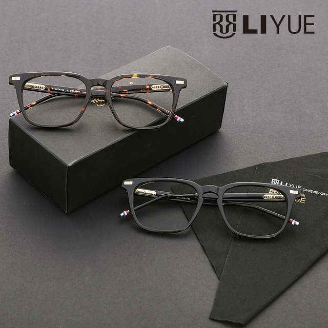 Anteojos recetados marcos ópticos diseñador de los hombres 2016 de la vendimia gafas claras anteojos cuadrados gafas de alta calidad 402