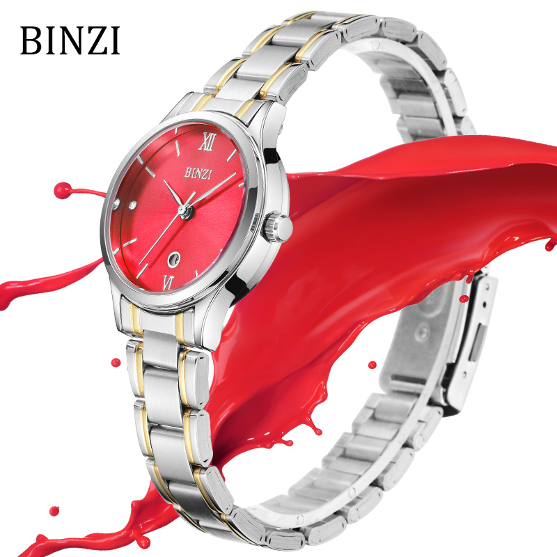 4ab1a139963 Mulheres Relógios relógio de pulso 2018 Watch   Binzi Watch Womens Clock  Women Quartz Fashion Simple