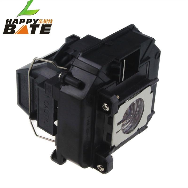 Lámpara de proyector Happybate con carcasa V13H010L60 para PowerLite - Audio y video casero