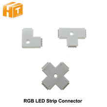 Top seller RGB LED Strip Connector 4pin L Shape / T Shape / X Shape Connector(China)