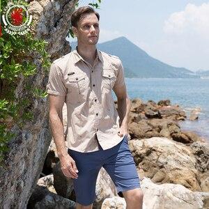 Image 2 - Chemise dété pour homme, 2019 coton solide, à la mode, décontracté, 100%, décontracté, chemise de grande taille