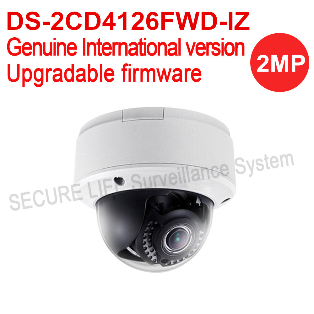 Free shipping HIKVISION DS-2CD4126FWD-IZ English version 2MP ultra-Low Light Smart ip cctv Camera POE security camera H.264 IK10 hikvision ds 2df8223i ael english version 2mp ultra low light smart ptz camera ultra low illumination dark fighter
