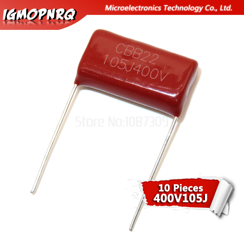 10PCS 400V105 1UF Pitch 20MM 400V 105 1000NF Igmopnrq CBB Polypropylene Film Capacitor New