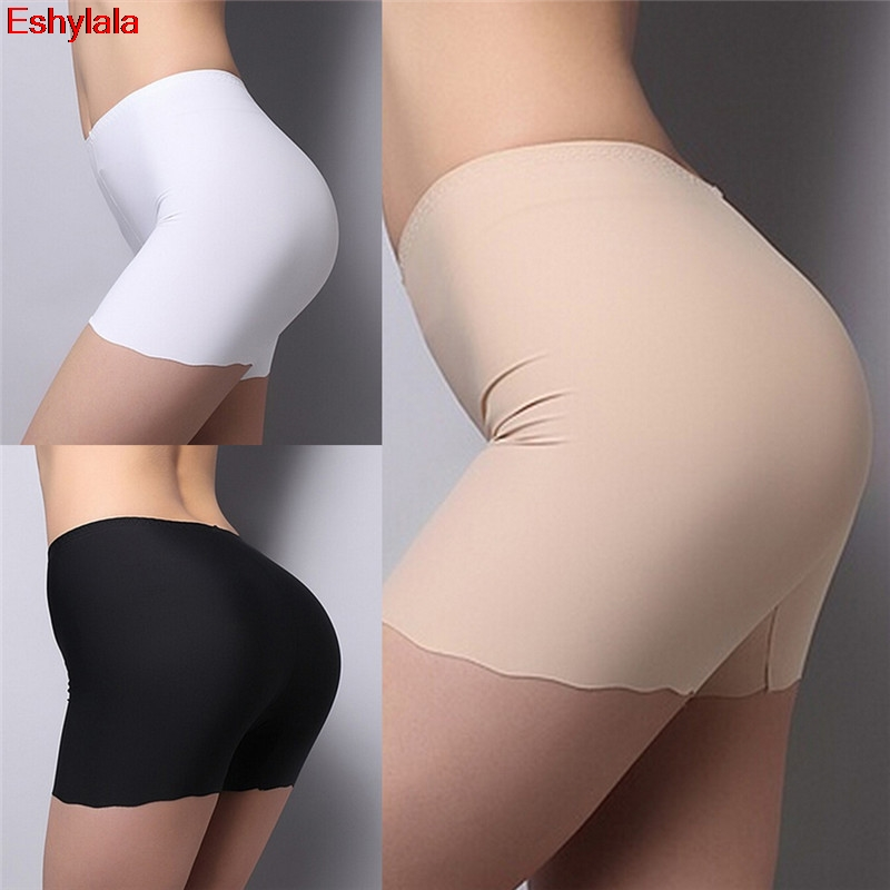Women Soft Cotton Seamless Safety Short Pants Summer Under Skirt Shorts Modal Ice Silk Breathable Short Tights Underwear